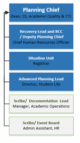 Planning Section: Individual Roles Diagram