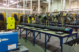 manufacturing equipment laying idle