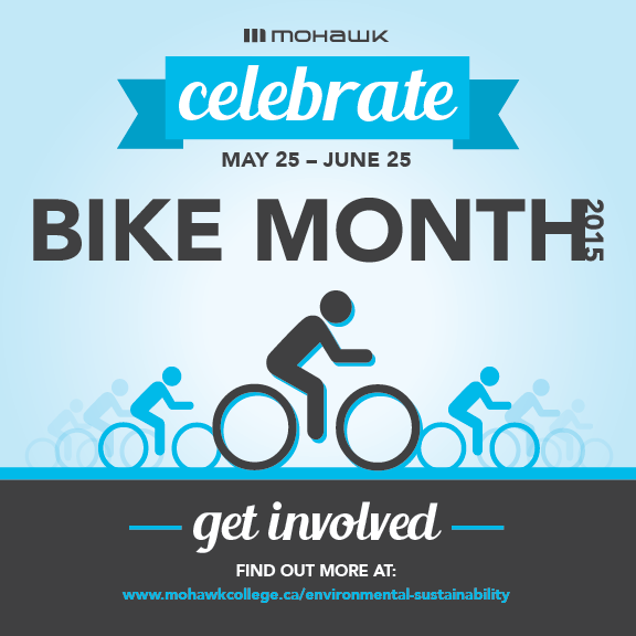 Mohawk College Celebrate Bike Month 2015 Poster