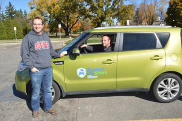 Mohawk College Students with the Mohawk CarShare Car