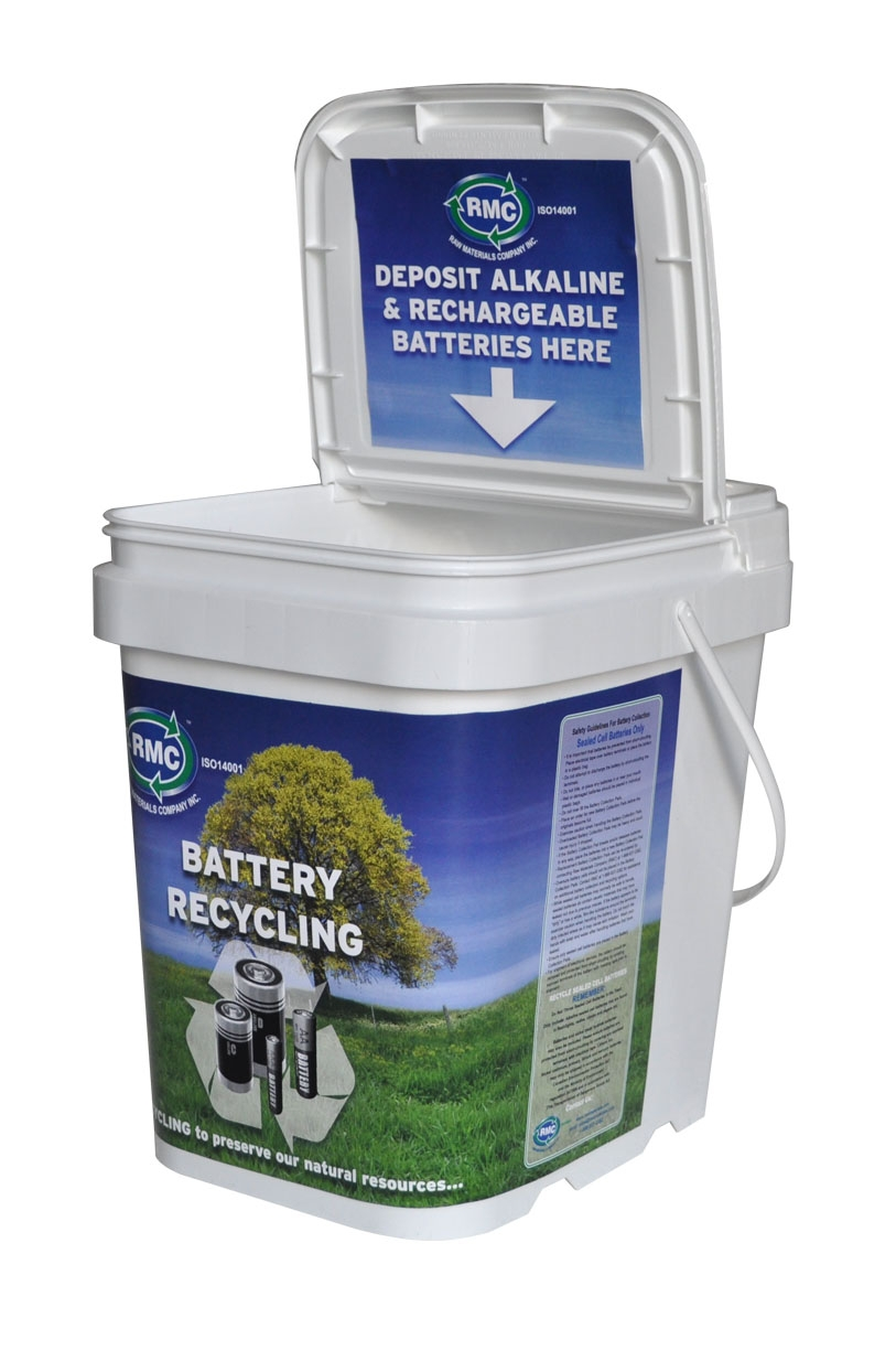Mohawk College Sustainability Battery Recycling Drop-off Bucket