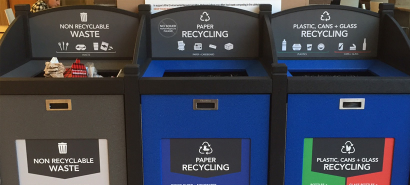 recycling bins at mohawk
