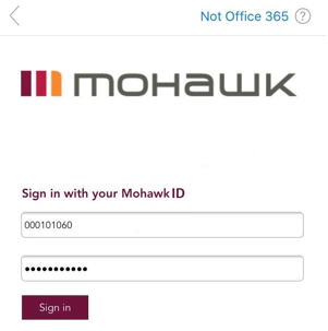 Mohawk College Single Sign In Mobile