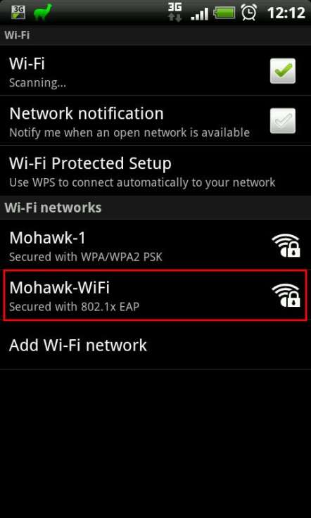 Android Wireless Networks List