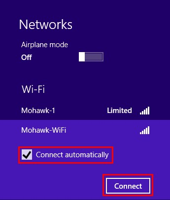 Windows 8 Networks Menu