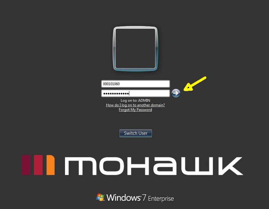 Mohawk Workstation Sign on