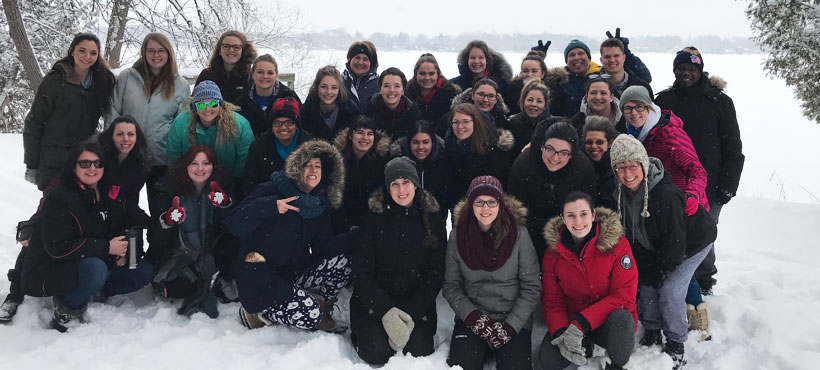 Recreation Therapy students at YMCA Geneva Park in Orillia