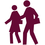 Icon depicting people walking together