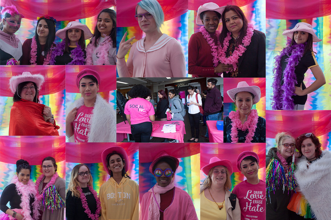 mohawk students celebrating day of pink