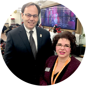 Everyday Hero Maria Bracalenti with Mohawk College president