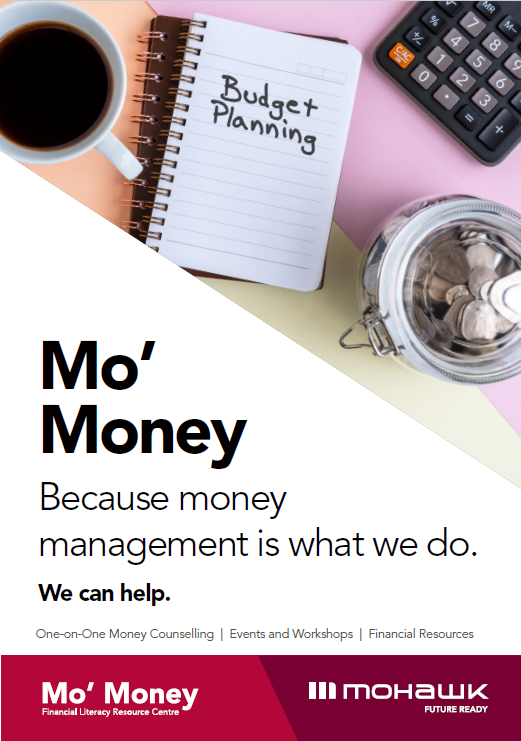 "Poster reads ""MoMoney, Because Money Management is what we do. We can help."""