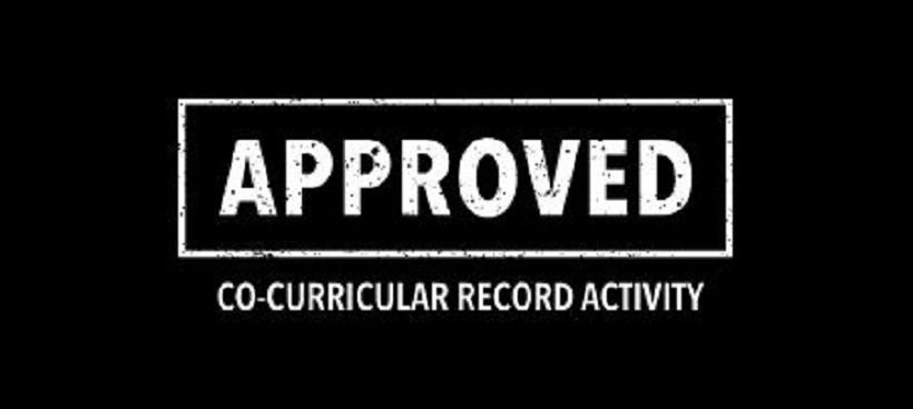 Co-curricular record approved stamp