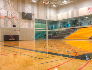 david braley athletics and recreation centre basketball court