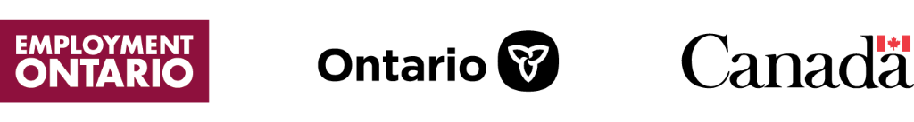 Employment ontario, Ontario Government, and Government of Canada Logos