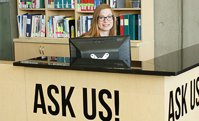 library customer service desk