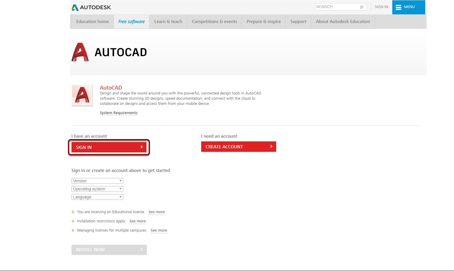 Install AutoCAD | Mohawk College