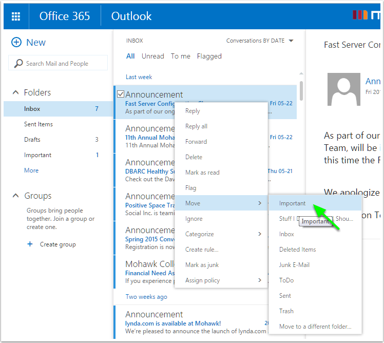 Organize Email In Outlook Online