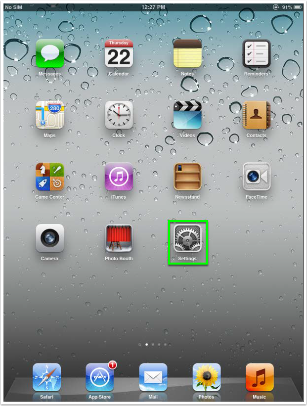 view of home panel on ios device