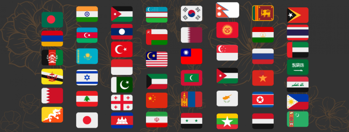 Flags of Asian Countries