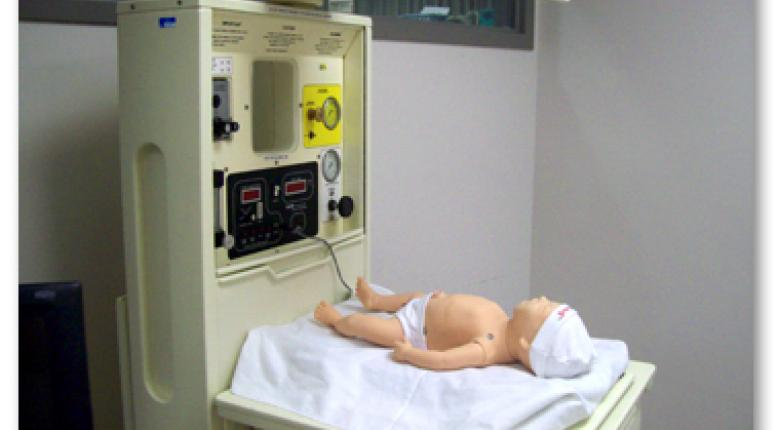 Hi-fidelity simulation baby used in the Neonatal Resusiation Program