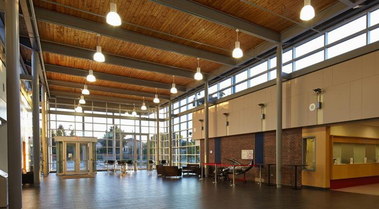 stoney creek campus entrance interior