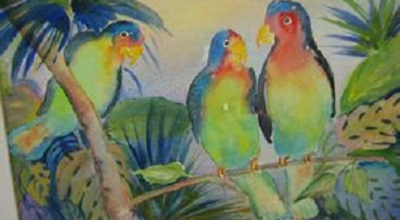 Watercolour Painting - Birds