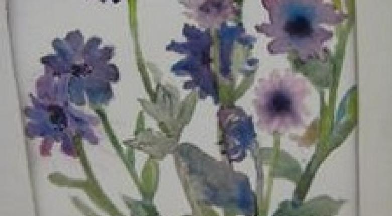Watercolour Painting - Flowers