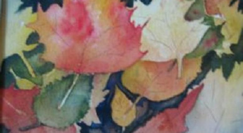 Watercolour Painting - Leaves