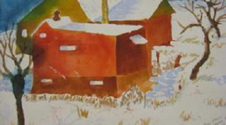 Watercolour Painting - Barn