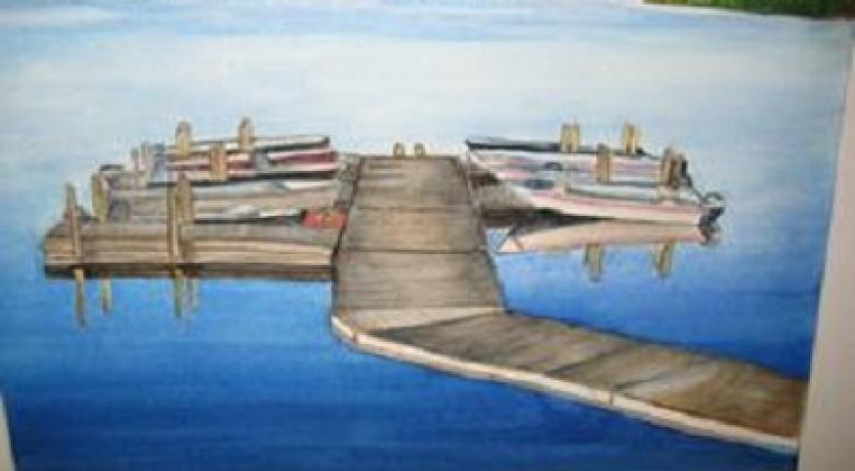Watercolour Painting - Dock
