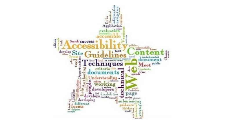 Word cloud made of words relating to accessibility