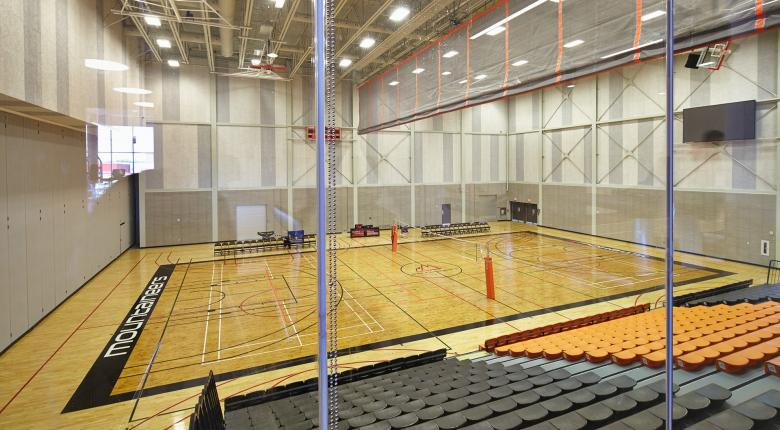david braley athletics & recreation centre basketball court gym view