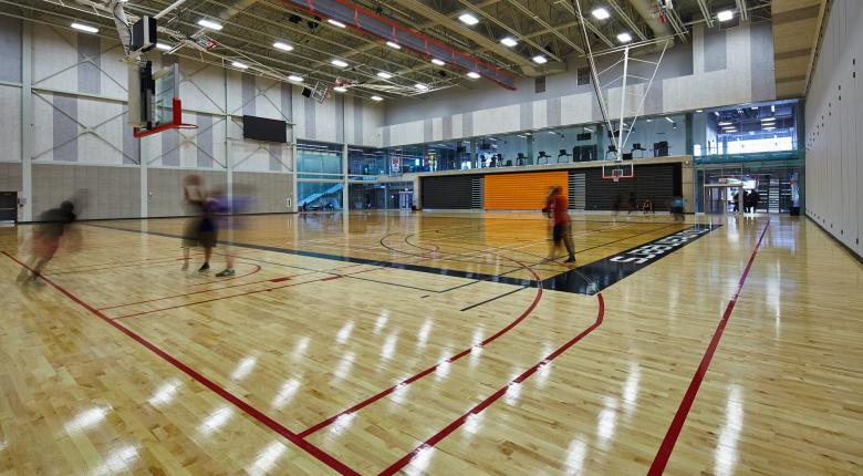 david braley athletics & recreation centre basketball court