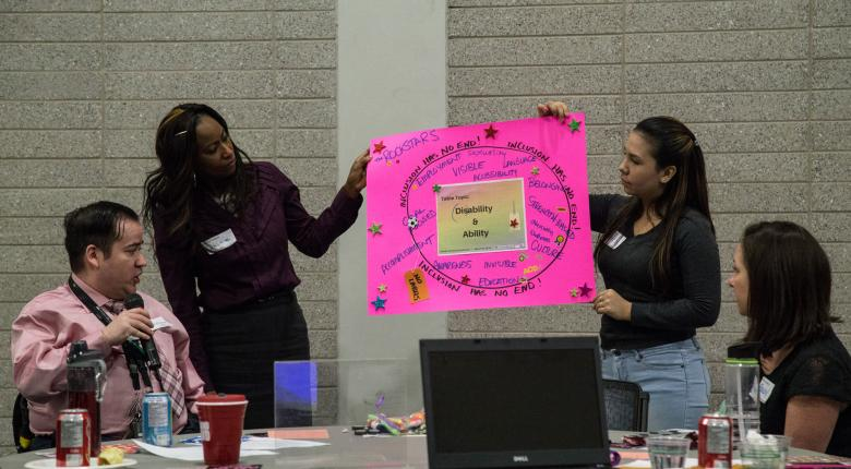 Disability and Ability Mohawk College Students Group Showing Their Chart