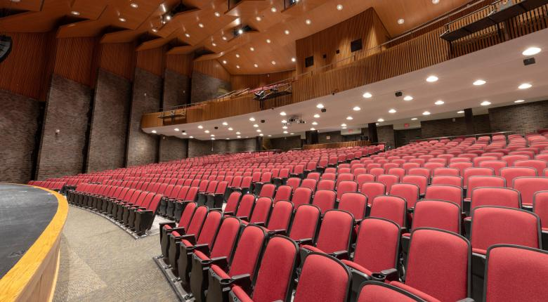 McIntyre Performing Arts Centre Seating Front View