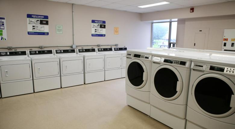 First floor laundry facility