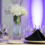 Fancy decorated wedding table