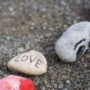 "Rock that says ""LOVE"" at the IGP"