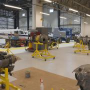 Inside of the Centre for Aviation Technology at Hamilton International Airport (YHM) building