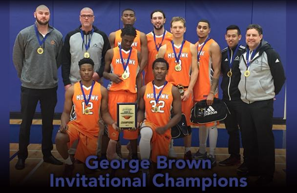Image of the George Brown Invitational Champions - Mohawk Men's Basketball