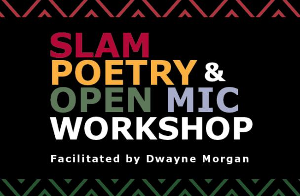 image of slam poetry and open mic workshop