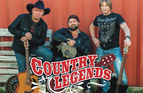 Country Legends - standing with their guitars