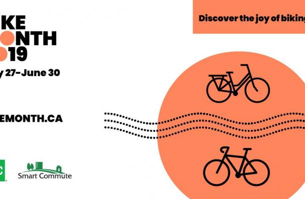 Bike month 2019. May 27-June 29. Discover the joy of biking.