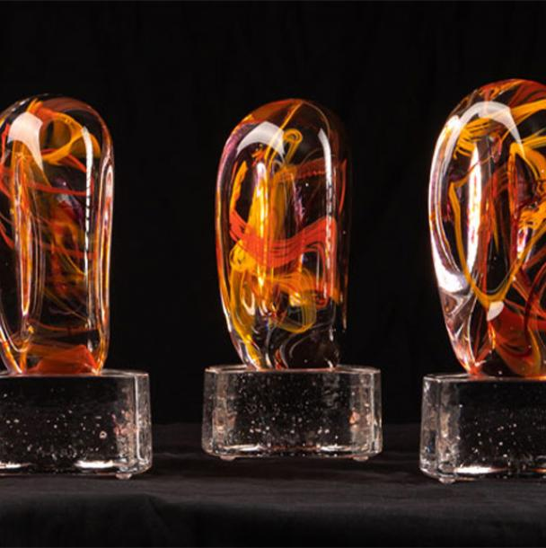Multiple glass awards in a row
