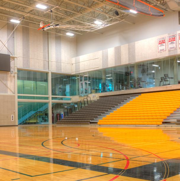basketball court in David Braley Athletic & Recreation Centre