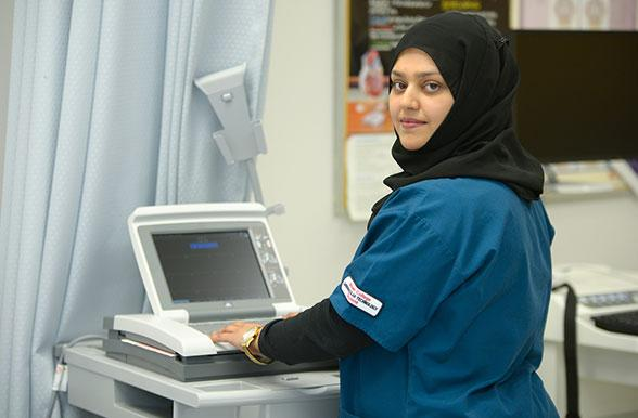 Cardiovascular Technology Student Working