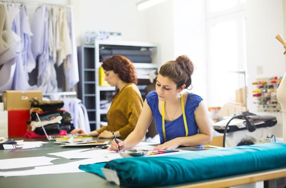 women preparing the new fashion collection