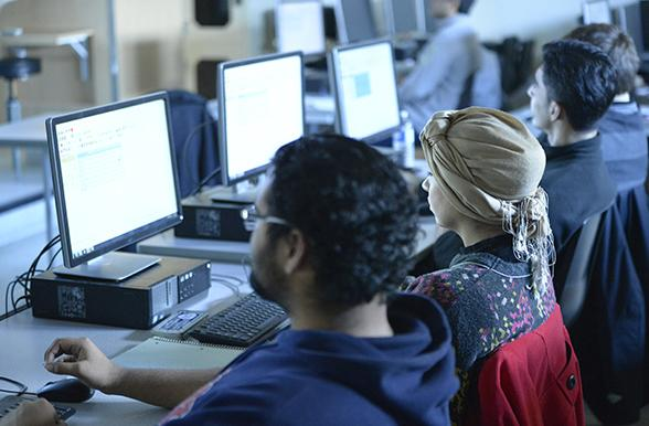 mohawk computer engineering technician students in the classroom