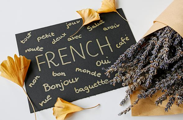 sign with french words written on it