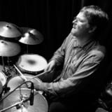 Ted Warren playing the drums